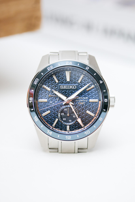 Die Seiko Presage Sharp Edged GMT SPB217